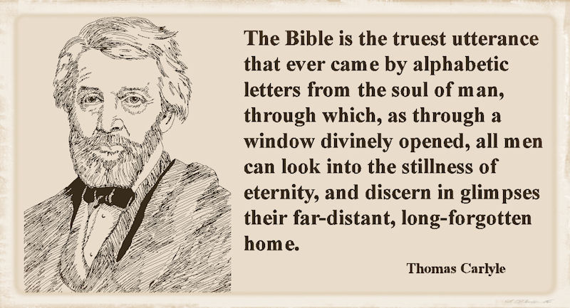 Thomas Carlyle Speaks About The Bible